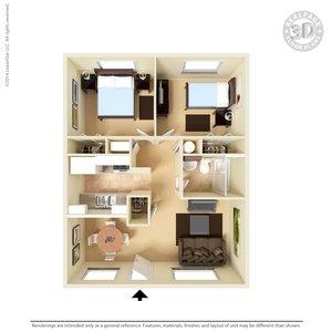 2 Bedrooms 1 Bathroom Apartment for rent at San Pedro Apartments in El Paso, TX
