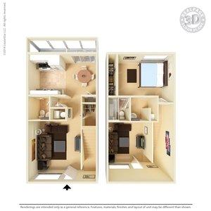 1 Bedroom 2 Bathrooms Apartment for rent at Vista Village Apartments in El Paso, TX