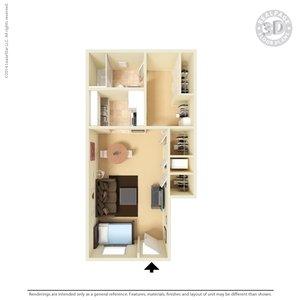 Studio 1 Bathroom Apartment for rent at Vista Village Apartments in El Paso, TX