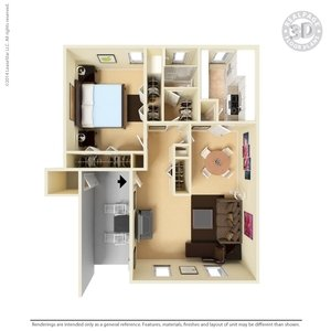1 Bedroom 1 Bathroom Apartment for rent at The Hills At North Mesa in El Paso, TX