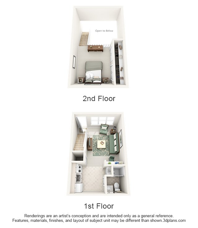 1 Bedroom 1 Bathroom Apartment for rent at Hawthorne Centre North in Wilmington, NC