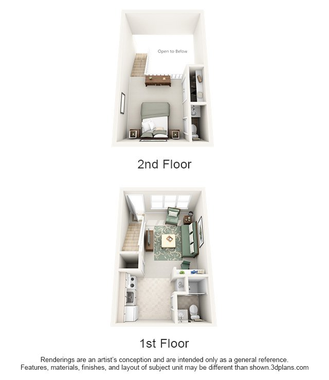 1 Bedroom 2 Bathrooms Apartment for rent at Hawthorne At New Centre in Wilmington, NC