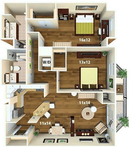 1 Bedroom 1 Bathroom Apartment for rent at Calhoun Beach Club in Minneapolis, MN