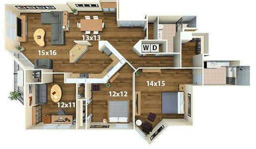 2 Bedrooms 2 Bathrooms Apartment for rent at Calhoun Beach Club in Minneapolis, MN