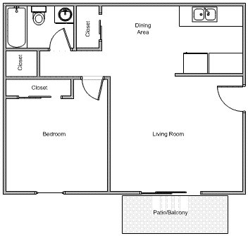 1 Bedroom 1 Bathroom Apartment for rent at The Madison Apartments in Cincinnati, OH