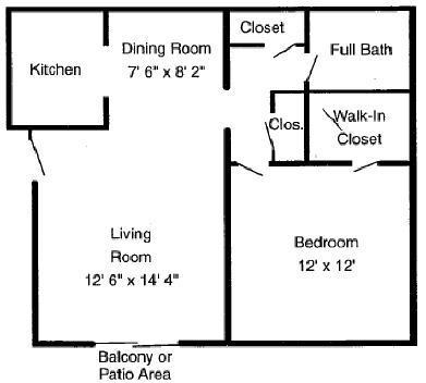 1 Bedroom 1 Bathroom Apartment for rent at Summit East Apartments in Cincinnati, OH