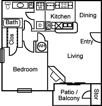 1 Bedroom 1 Bathroom Apartment for rent at Altamonte Apartments in San Antonio, TX