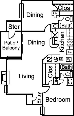 2 Bedrooms 2 Bathrooms Apartment for rent at Altamonte Apartments in San Antonio, TX