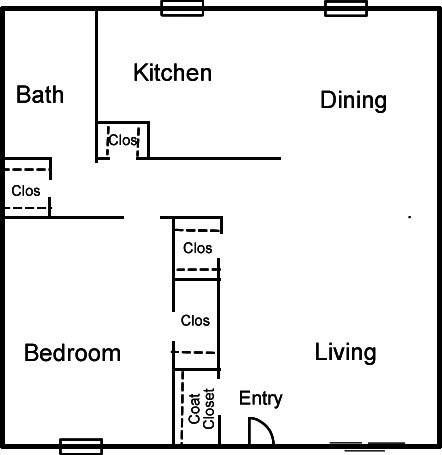 1 Bedroom 1 Bathroom Apartment for rent at Altuda Arms Apartments in El Paso, TX