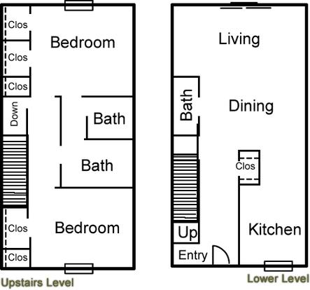2 Bedrooms 3 Bathrooms Apartment for rent at Altuda Arms Apartments in El Paso, TX