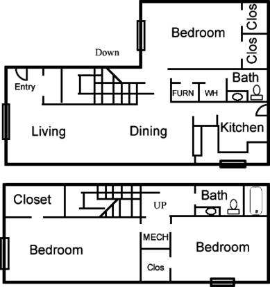 3 Bedrooms 2 Bathrooms Apartment for rent at Coronado Trails Apartment in El Paso, TX