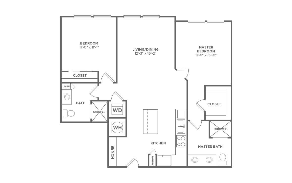 2 Bedrooms 2 Bathrooms Apartment for rent at Liberty Warehouse in Durham, NC