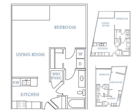 Studio 1 Bathroom Apartment for rent at 909 Broad in Athens, GA