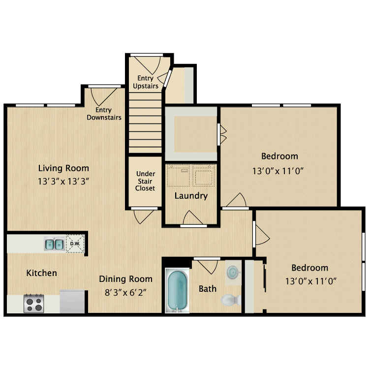 2 Bedrooms 1 Bathroom Apartment for rent at Avalon West in El Paso, TX