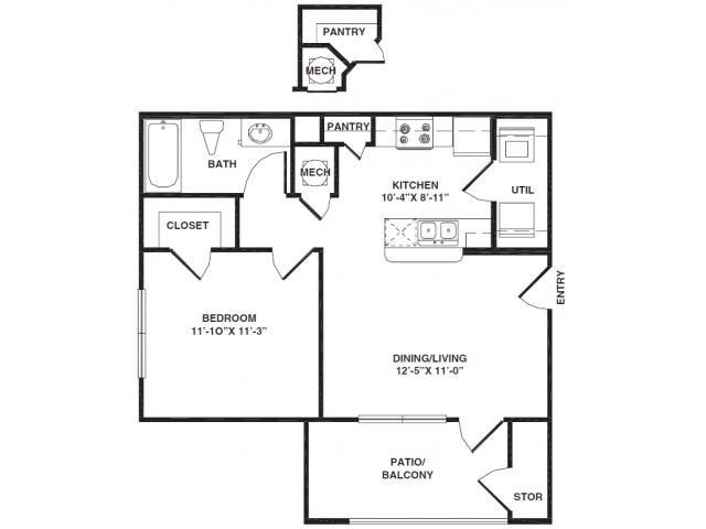 1 Bedroom 1 Bathroom Apartment for rent at Bristol Park Apartments in Oak Ridge, TN