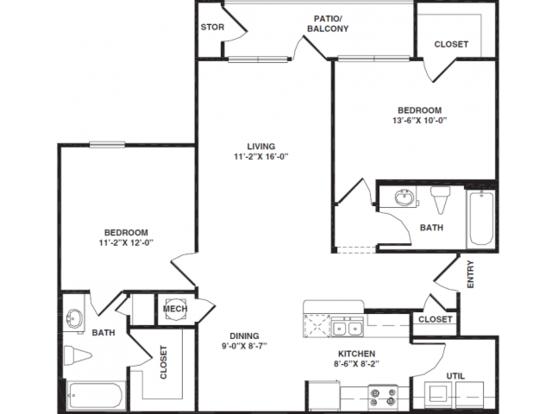 2 Bedrooms 2 Bathrooms Apartment for rent at Bristol Park Apartments in Oak Ridge, TN