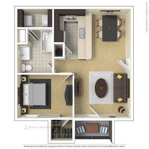1 Bedroom 1 Bathroom Apartment for rent at Centennial Village in Oak Ridge, TN