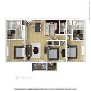3 Bedrooms 2 Bathrooms Apartment for rent at Centennial Village in Oak Ridge, TN