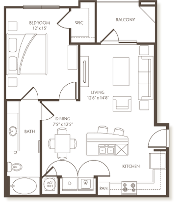 1 Bedroom 1 Bathroom Apartment for rent at The Preserve At Hardin Valley in Knoxville, TN
