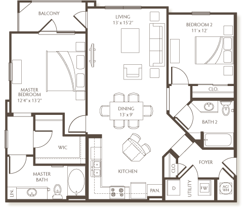 2 Bedrooms 2 Bathrooms Apartment for rent at The Preserve At Hardin Valley in Knoxville, TN