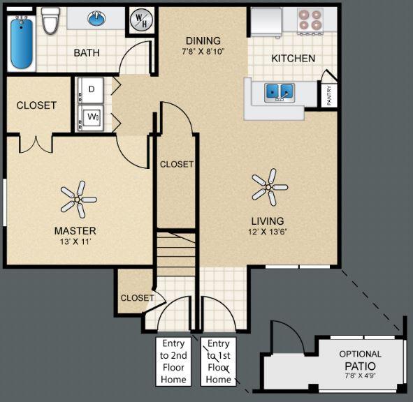 1 Bedroom 1 Bathroom Apartment for rent at Puerta Villa At Cimarron in El Paso, TX