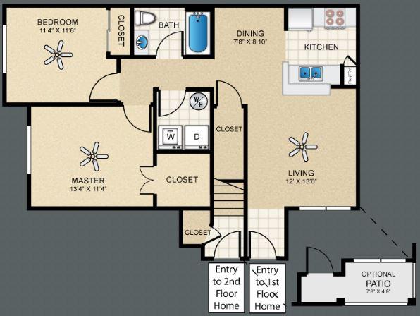 2 Bedrooms 1 Bathroom Apartment for rent at Puerta Villa At Cimarron in El Paso, TX