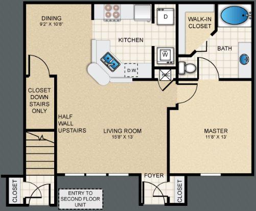 1 Bedroom 1 Bathroom Apartment for rent at Puerta Villa At Pellicano in El Paso, TX
