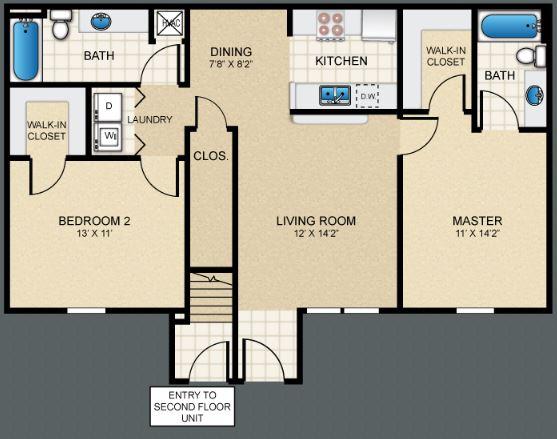2 Bedrooms 2 Bathrooms Apartment for rent at Puerta Villa At Pellicano in El Paso, TX