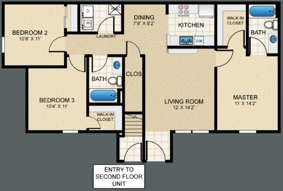 3 Bedrooms 2 Bathrooms Apartment for rent at Puerta Villa At Pellicano in El Paso, TX