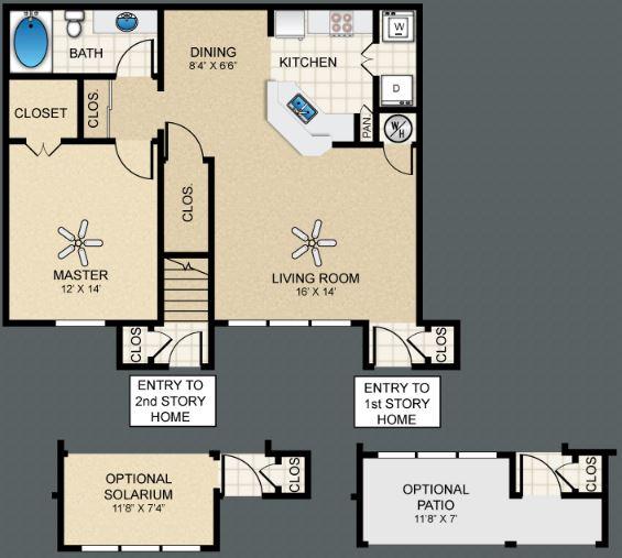 1 Bedroom 1 Bathroom Apartment for rent at The Bungalows At Hueco Estates in El Paso, TX
