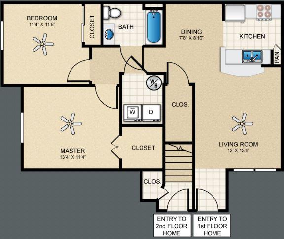2 Bedrooms 1 Bathroom Apartment for rent at The Bungalows At Hueco Estates in El Paso, TX