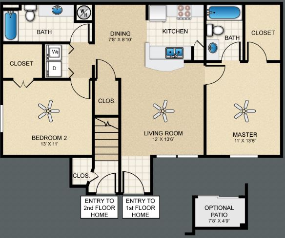 2 Bedrooms 2 Bathrooms Apartment for rent at The Bungalows At Hueco Estates in El Paso, TX