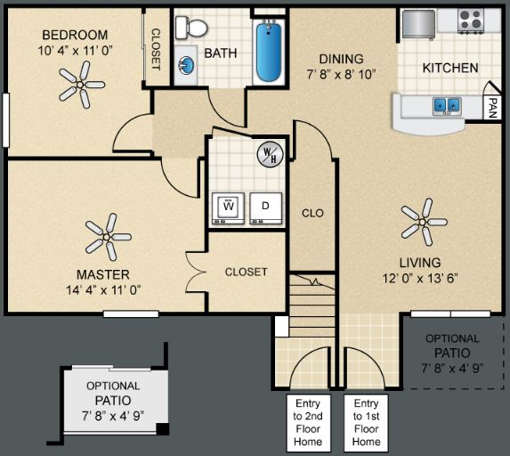 2 Bedrooms 1 Bathroom Apartment for rent at The Bungalows At North Hills in El Paso, TX