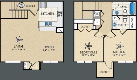 2 Bedrooms 2 Bathrooms Apartment for rent at The Bungalows At North Hills in El Paso, TX
