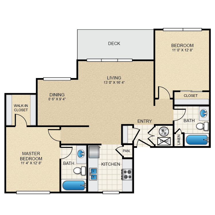 2 Bedrooms 2 Bathrooms Apartment for rent at The Pointe in El Paso, TX