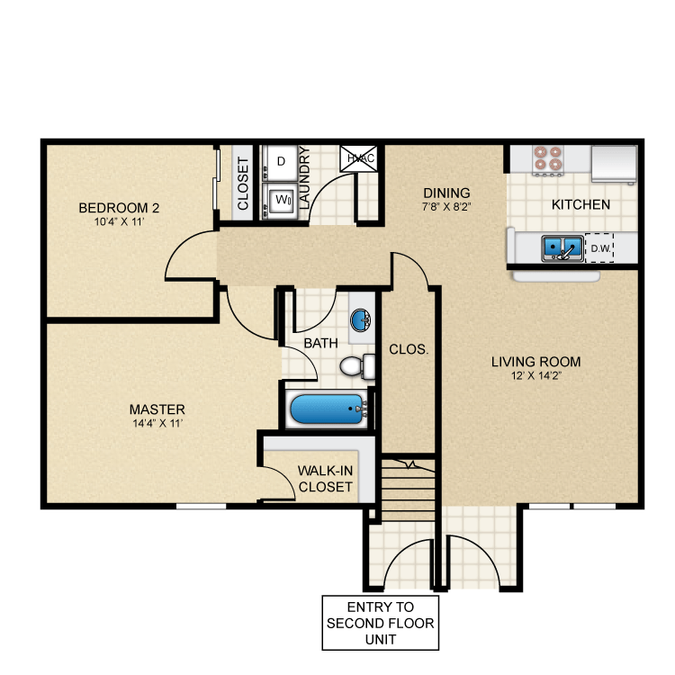 2 Bedrooms 1 Bathroom Apartment for rent at Puerta Villa At Pellicano in El Paso, TX