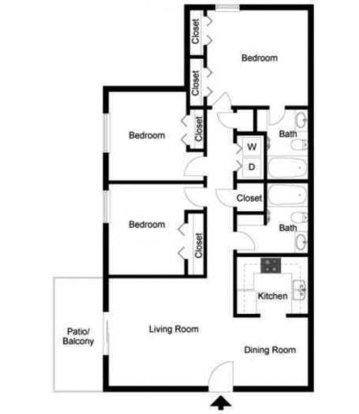 3 Bedrooms 2 Bathrooms Apartment for rent at Elevation Knoxville in Knoxville, TN