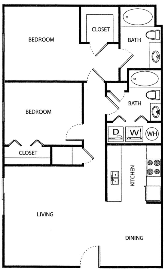 2 Bedrooms 2 Bathrooms Apartment for rent at The Vue At Ridge Way in Knoxville, TN