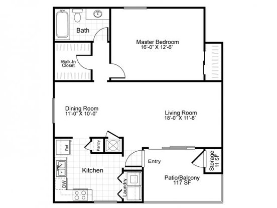 1 Bedroom 1 Bathroom Apartment for rent at Bridges At Quail Hollow in Charlotte, NC