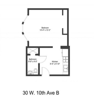 1 Bedroom 1 Bathroom Apartment for rent at 30-32 W 10th Ave in Columbus, OH