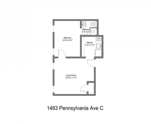 1 Bedroom 1 Bathroom House for rent at 1483 Pennsylvania Ave in Columbus, OH