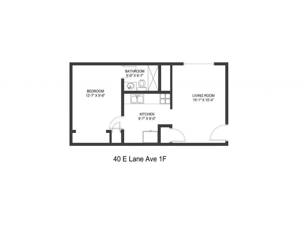 1 Bedroom 1 Bathroom Apartment for rent at 40 E Lane Ave in Columbus, OH