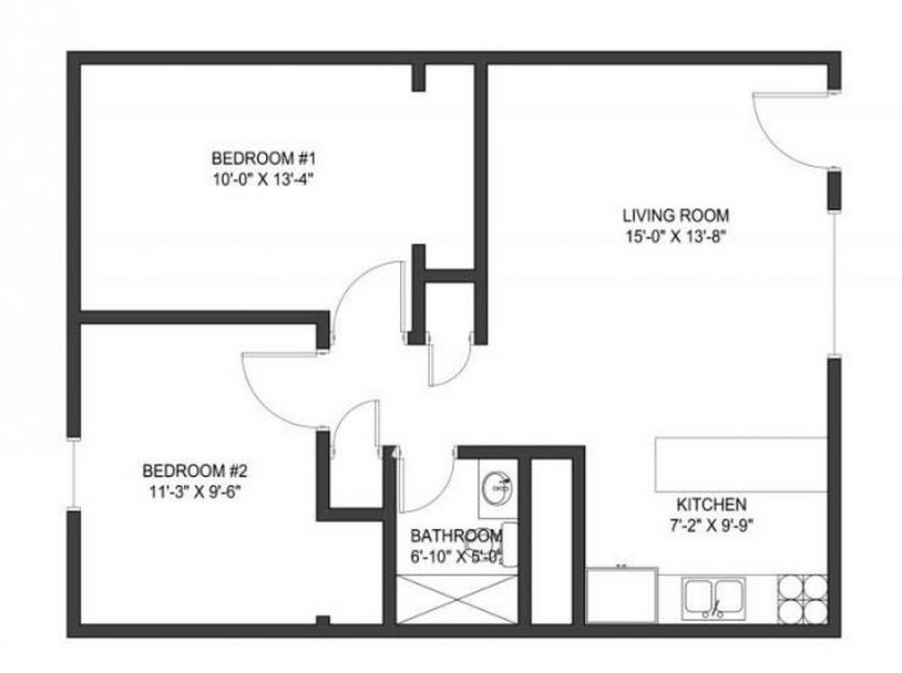 2 Bedrooms 1 Bathroom Apartment for rent at 40 E Lane Ave in Columbus, OH
