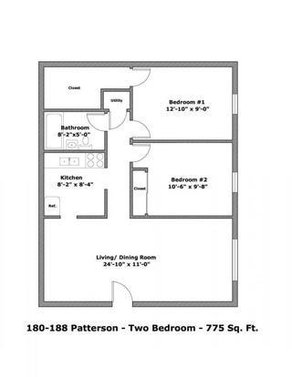 2 Bedrooms 1 Bathroom Apartment for rent at 180-188 W Patterson Ave in Columbus, OH