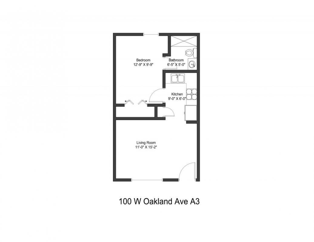 1 Bedroom 1 Bathroom Apartment for rent at 100 W Oakland Ave in Columbus, OH