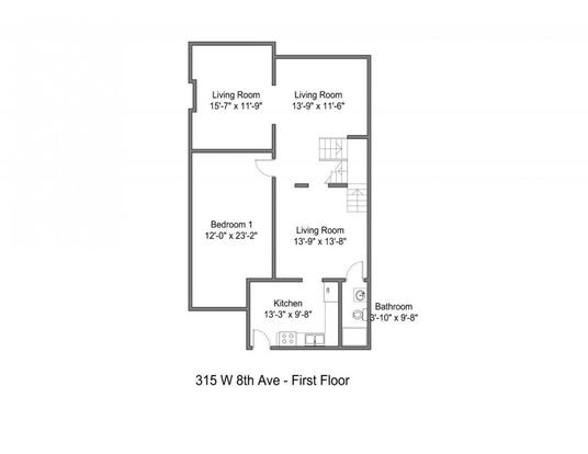 6 Bedrooms 2 Bathrooms House for rent at 315 W 8th Ave in Columbus, OH