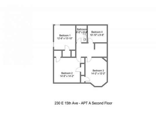 5 Bedrooms 2 Bathrooms Apartment for rent at 230 E 15th Ave in Columbus, OH