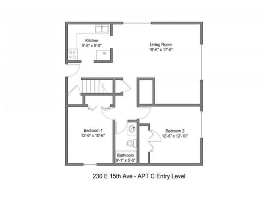 4 Bedrooms 2 Bathrooms Apartment for rent at 230 E 15th Ave in Columbus, OH