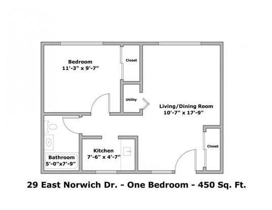 1 Bedroom 1 Bathroom Apartment for rent at 29 E Norwich Ave in Columbus, OH