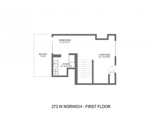 2 Bedrooms 1 Bathroom Apartment for rent at 273-277 W Norwich Ave in Columbus, OH